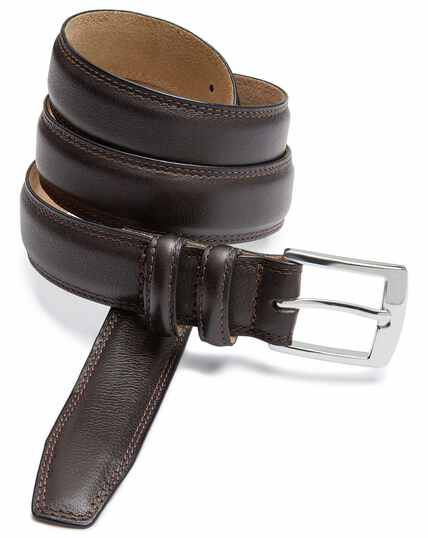 Chocolate leather smart belt