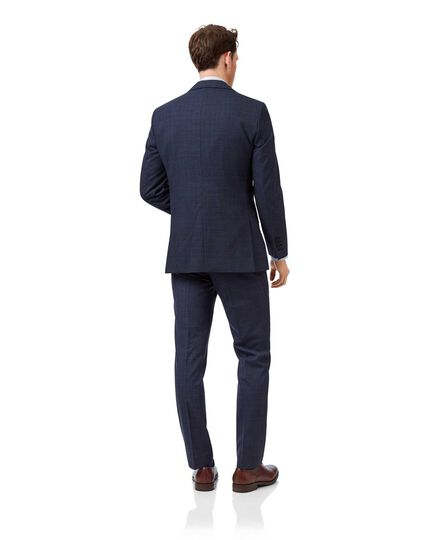 Airforce blue slim fit merino business suit