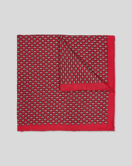 Ladybird Print Pocket Square - Red