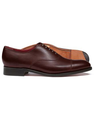 Mahogany made in England Oxford flex sole shoe