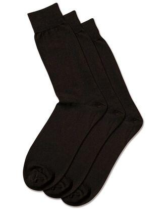Black cotton rich 3 pack socks