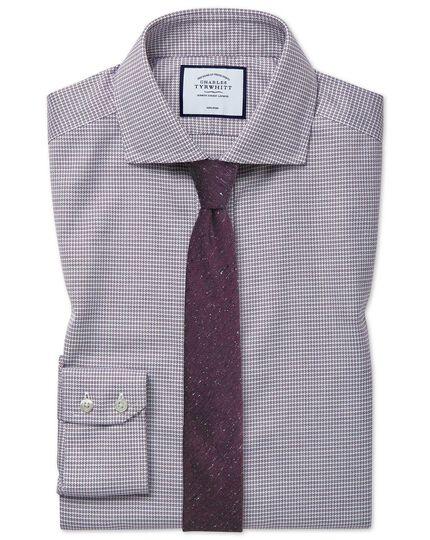 Extra slim fit cutaway collar non-iron cotton stretch berry shirt