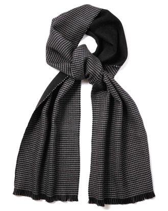 Charcoal reversible merino scarf