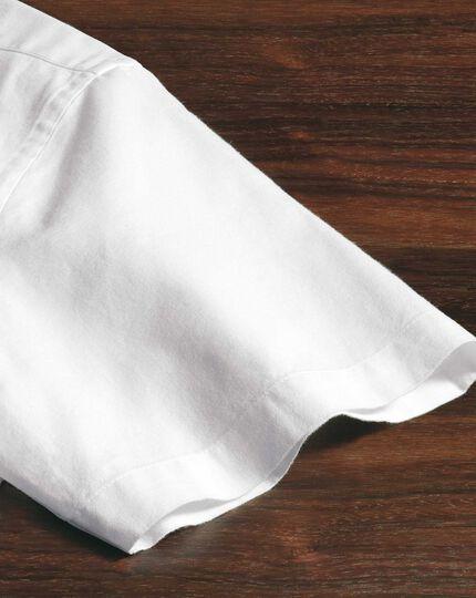 Classic Fit Kurzarmhemd in Weiß
