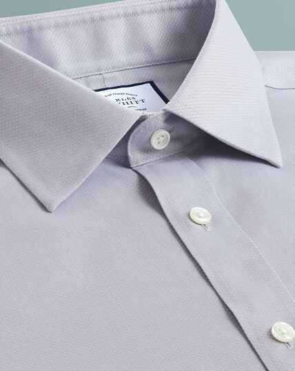 Non-Iron Triangle Weave Shirt - Grey
