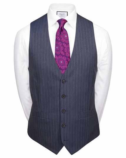 Airforce stripe slim fit Panama business suit waistcoat