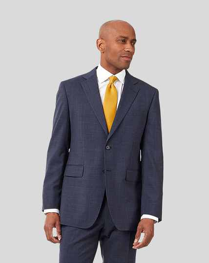 Crosshatch Suit Jacket - Airforce Blue