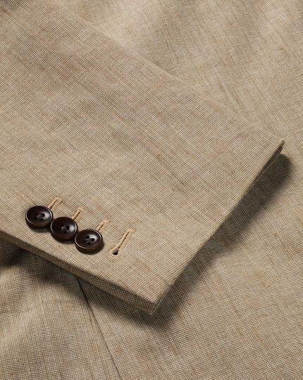 Cotton Linen Jacket - Tan
