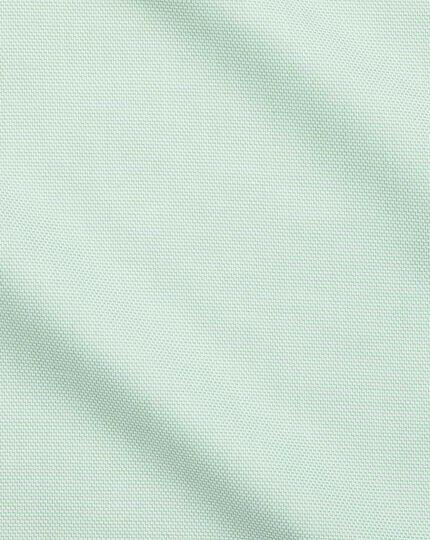 Chemise verte en tissage échelle coupe droite sans repassage