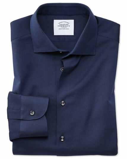 Chemise business casual bleu marine en oxford royal slim fit