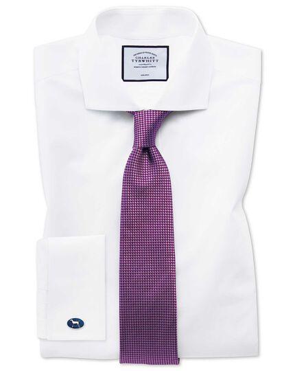 Purple tonal silk classic tie