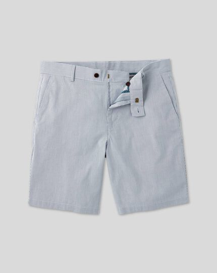 Stripe Cotton Shorts - Blue