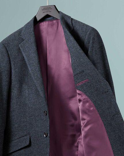 Classic fit indigo blue wool jacket