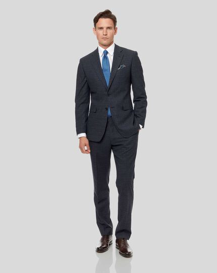 Grid Check Suit - Blue