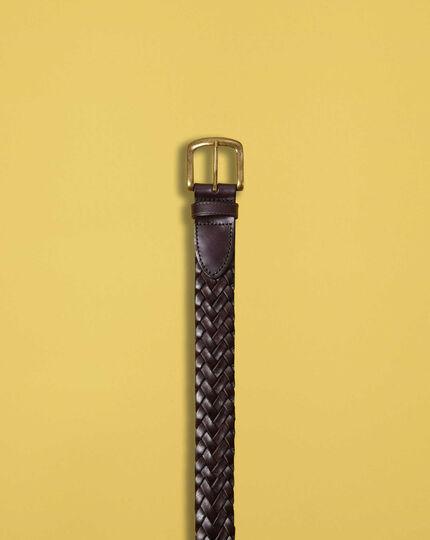 Geflochtener Gürtel in Braun
