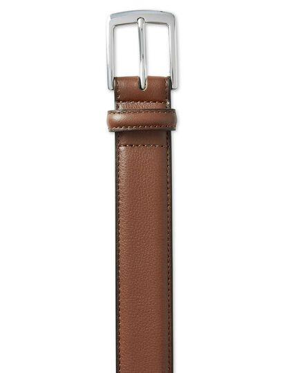 Tan leather smart belt