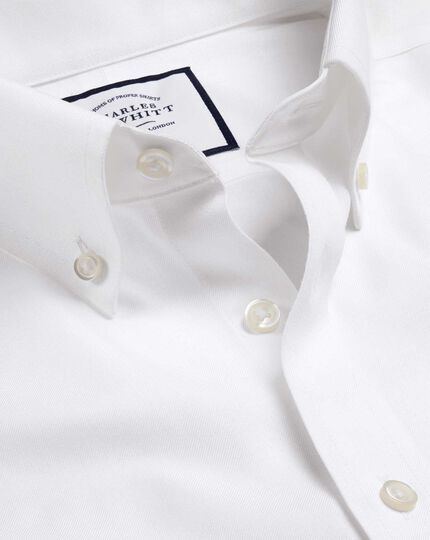 Button-Down Non-Iron Twill Shirt - White