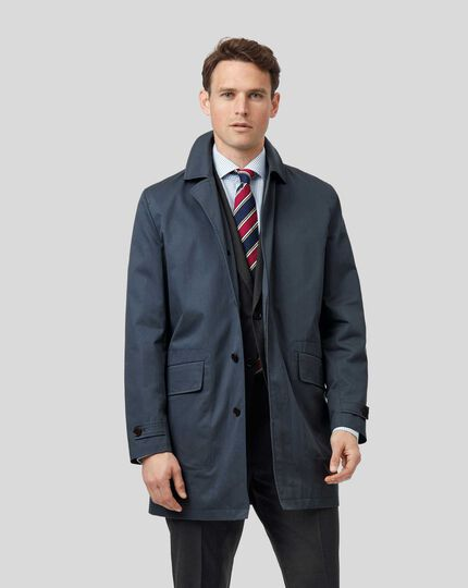 Italian Raincoat - Airforce Blue