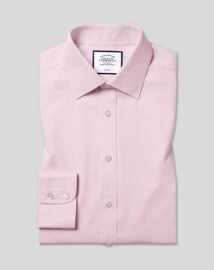 Classic Collar Non-Iron Micro Diamond Shirt - Pink