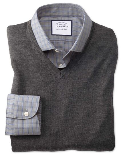 Charcoal merino sweater vest
