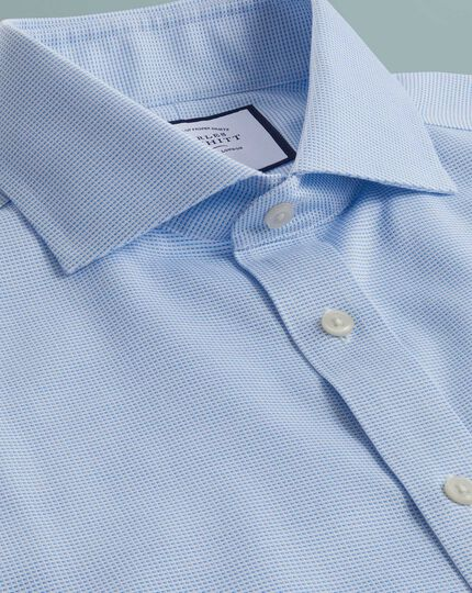 Non-Iron Cotton Stretch Oxford Shirt - Sky Blue