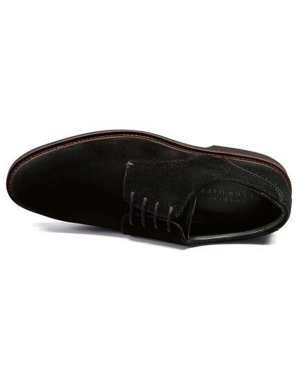 Black extra lightweight derby shoe