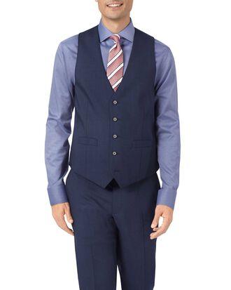 Navy adjustable fit step weave suit vest