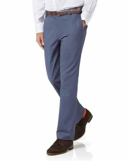 Blue slim fit stretch chinos
