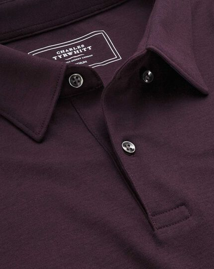 Plain burgundy jersey polo