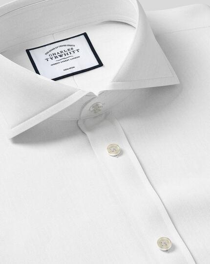 Chemise Col Cutaway Extrême Twill Sans Repassage - Blanc