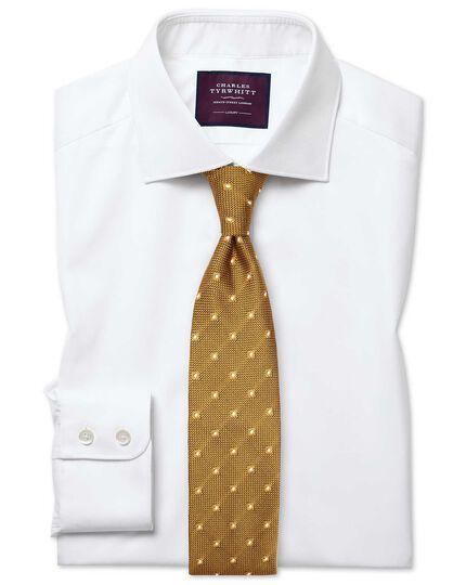 Extra slim fit white luxury twill shirt