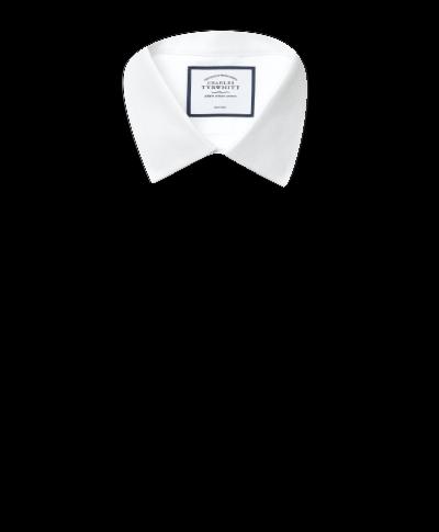 Chemise à motif à effet tirets blanche extra slim fit sans repassage