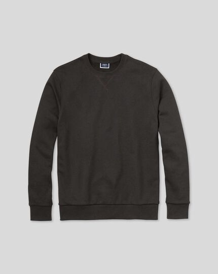 Jersey Crew Neck Jumper - Charcoal