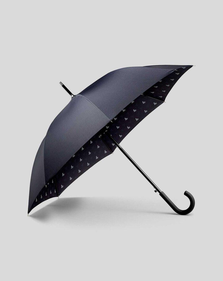 Printed Classic Umbrella - Navy