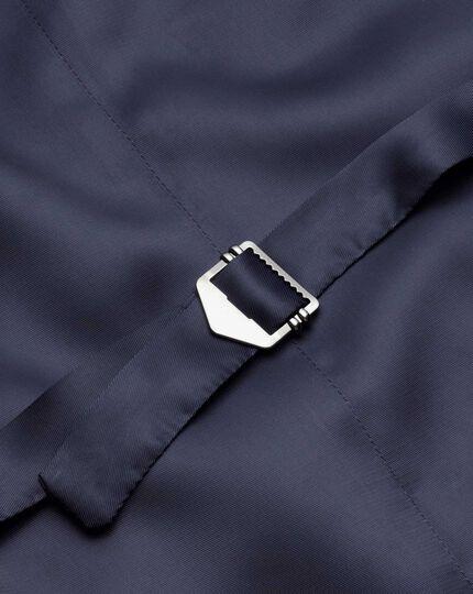 Verstellbare Business Anzug Weste aus Twill in Marineblau mit Streifen