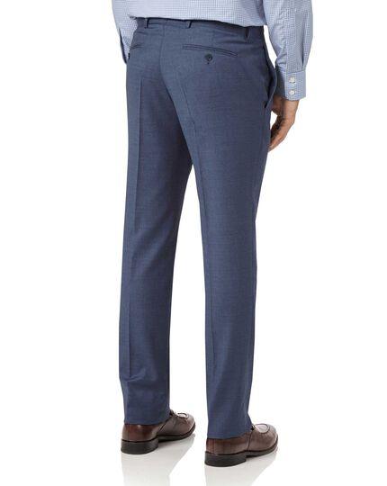 Airforce blue slim fit cross hatch weave italian suit pants