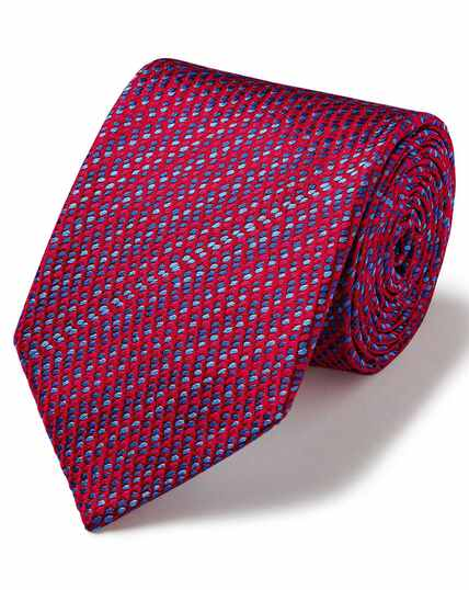 Red dash luxury English geometric tie