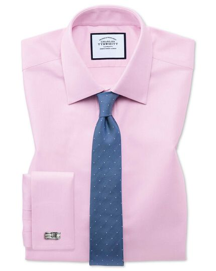 Extra slim fit Egyptian cotton royal Oxford pink shirt