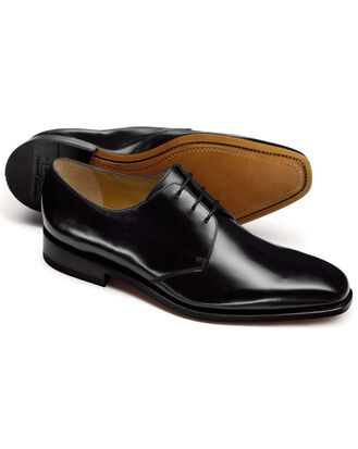 Black Goodyear welted Derby shoe