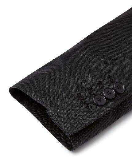 Veste de costume Travel œil-de-perdrix grise à carreaux slim fit