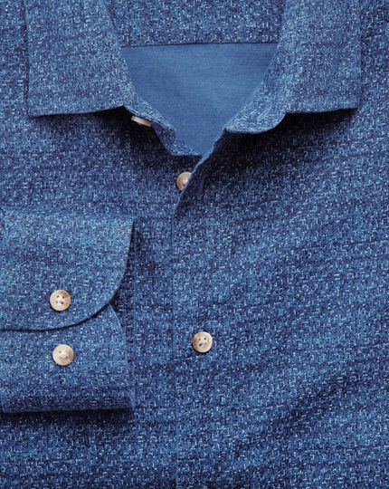 Slim fit blue print shirt