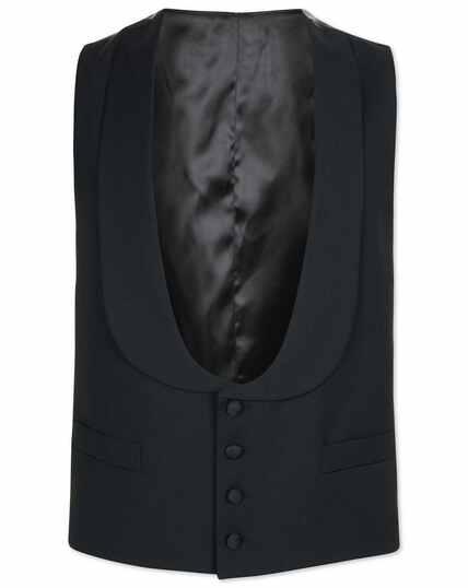 Verstellbare Smoking-Weste mit Schalkragen in Schwarz