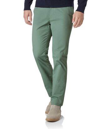 Light green extra slim fit stretch chinos