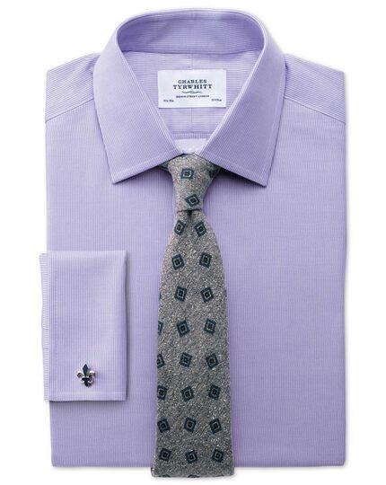 Extra slim fit Oxford lilac shirt