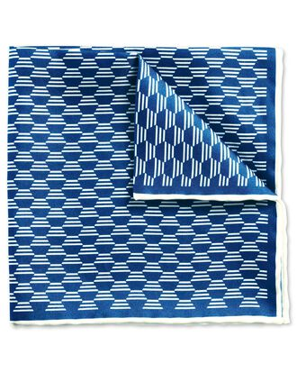 Royal blue classic hexagon pocket square