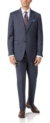 Light blue slim fit twill business suit