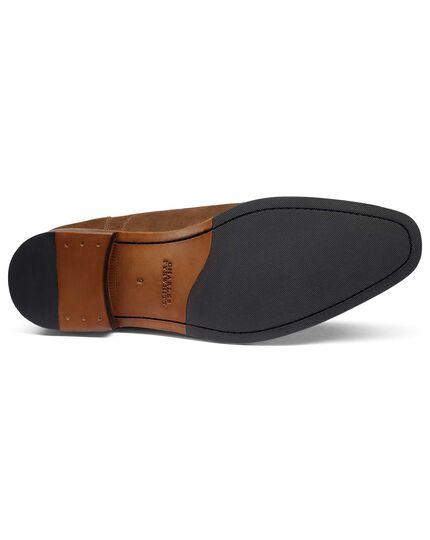 Brown suede Derby shoe