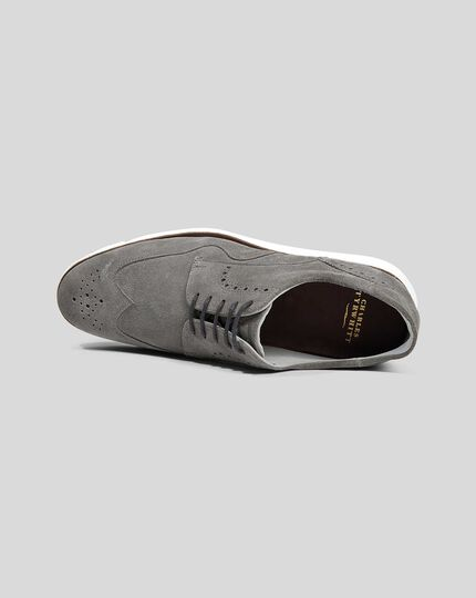 Suede Hybrid Sneakers  - Grey