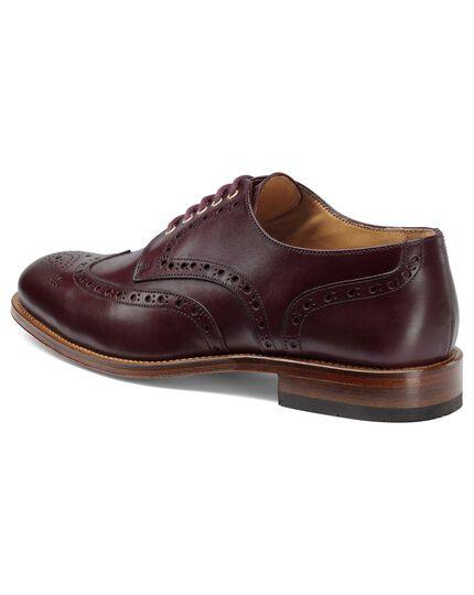 Oxblood eyelet Derby brogue shoe