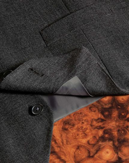 Charcoal adjustable fit hairline business suit waistcoat
